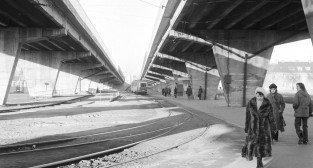 Pętla tramwajowa na Górczynie - rok 1973,