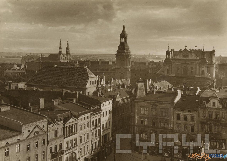 Stary Rynek widok na farę - 1930 r.  Foto: Roman Stefan Ulatowski / Cyryl