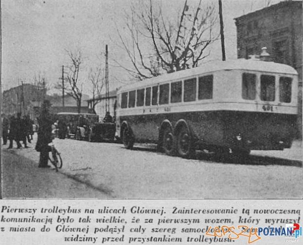 Trolejbus na Głównej, lata 30 XX wieku