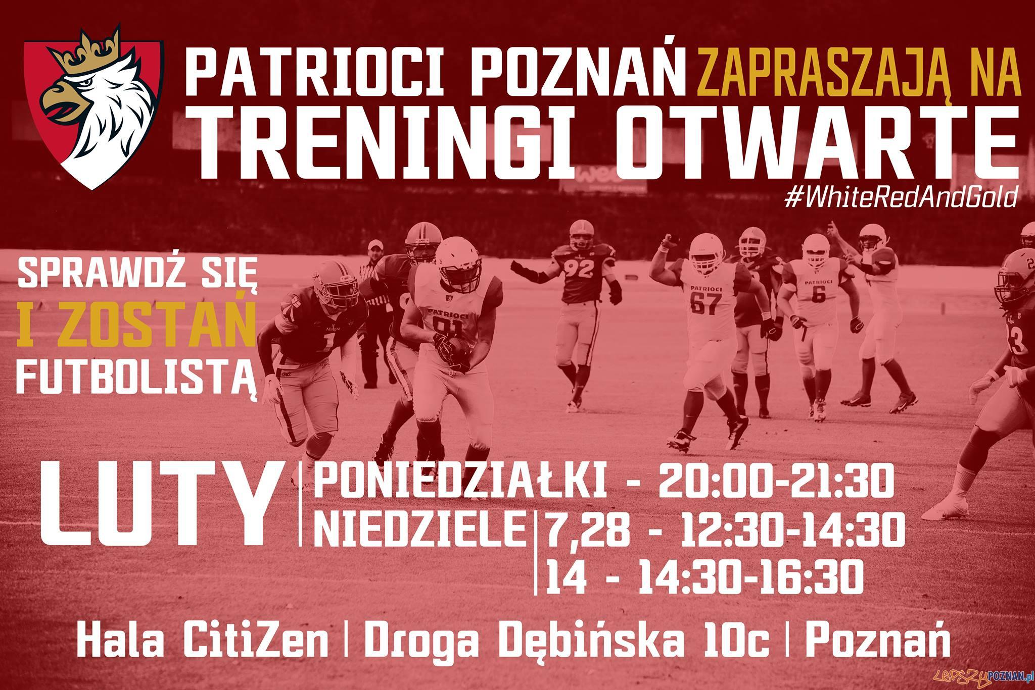Patrioci Poznań - treningi otwarte luty 2016