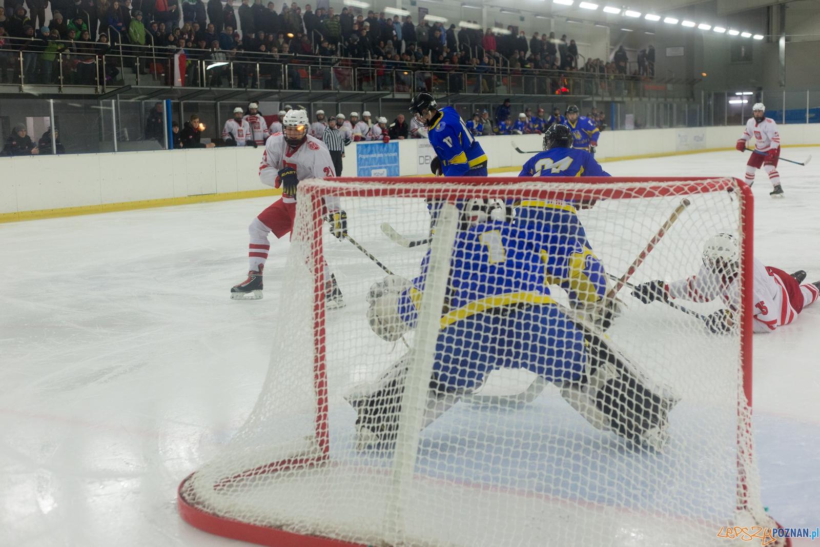 Międzynarodowy turniej hokeja na lodzie U18 (Polska - Ukraina)  Foto: lepszyPOZNAN.pl / Piotr Rychter