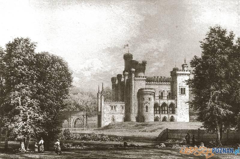 Pałac w Kórniku - rycina Napoleona Ordy