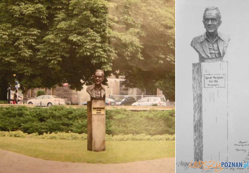 Koncepcja pomnika Romana Maciejewskiego  Foto: UMP