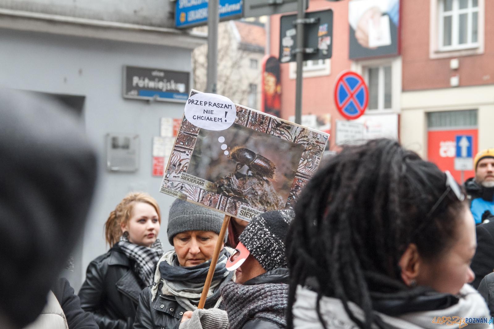 Stop wycince! Walcz o puszczę! - Poznań 13.03.2016 r.  Foto: LepszyPOZNAN.pl / Paweł Rychter