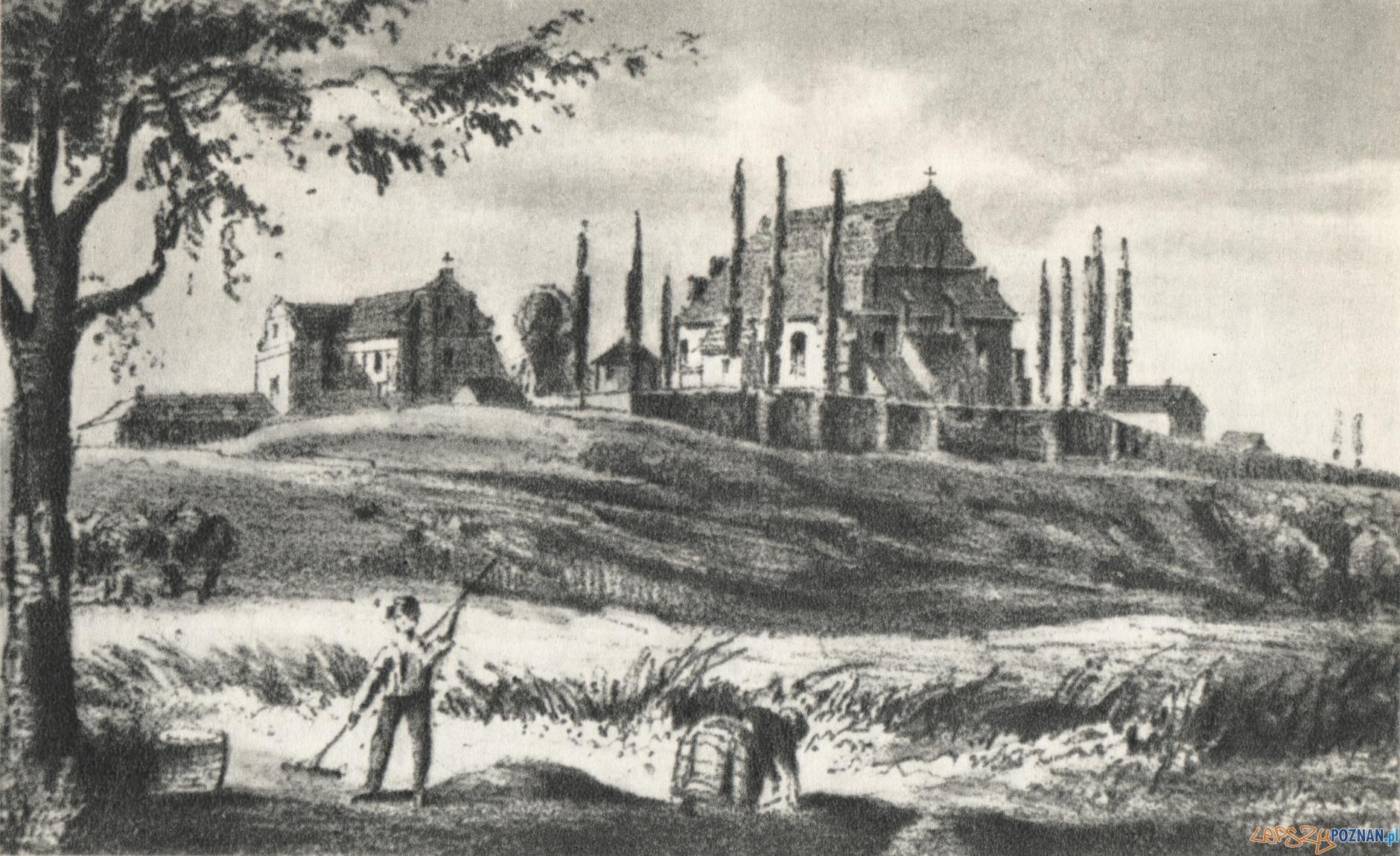 Świety Wojciech - widok od wschodu - 1840- 1850
