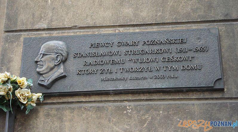 Tablica pamiątkowa Stanisława Strugarka na Łazarzu