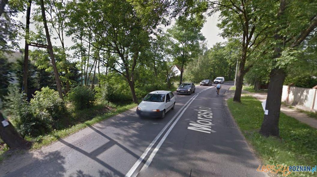 Tu będzie budowany chodnik  Foto: google.maps