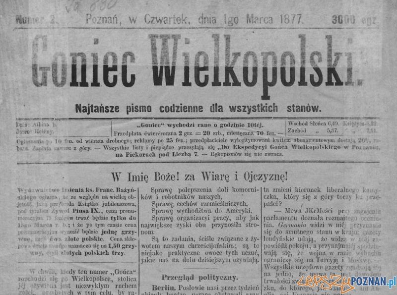Goniec Wielkopolski nr 1- 1.03.1877 r.