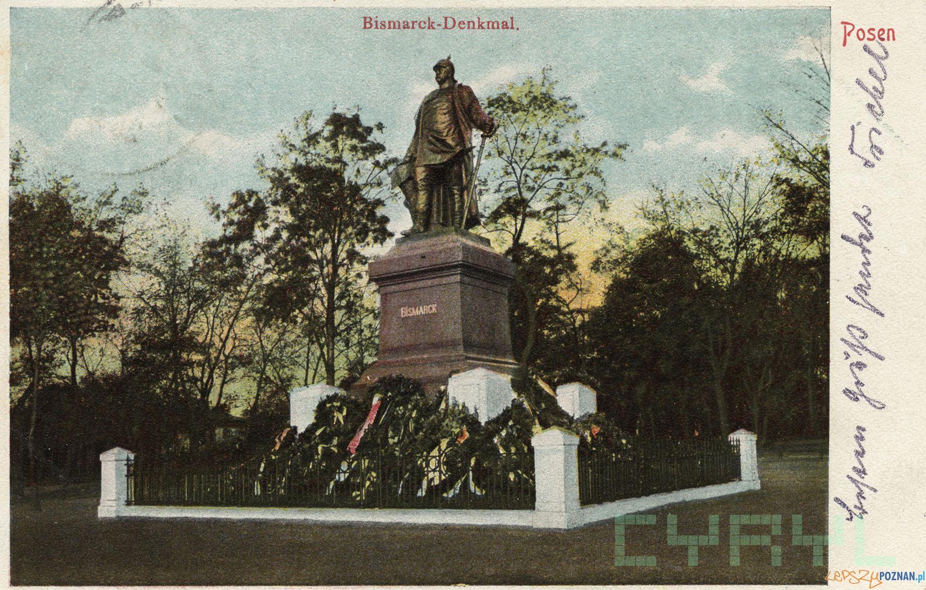 Pomnik Bismarcka na dzisiejszym Placu Mickiewicza 1903-1905