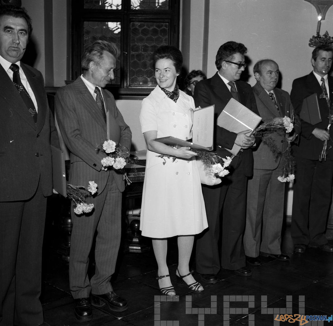 Wręczenie Nagród Województwa Poznańskiego za rok 1978 w Sali Renesansowej poznańskiego ratusza
