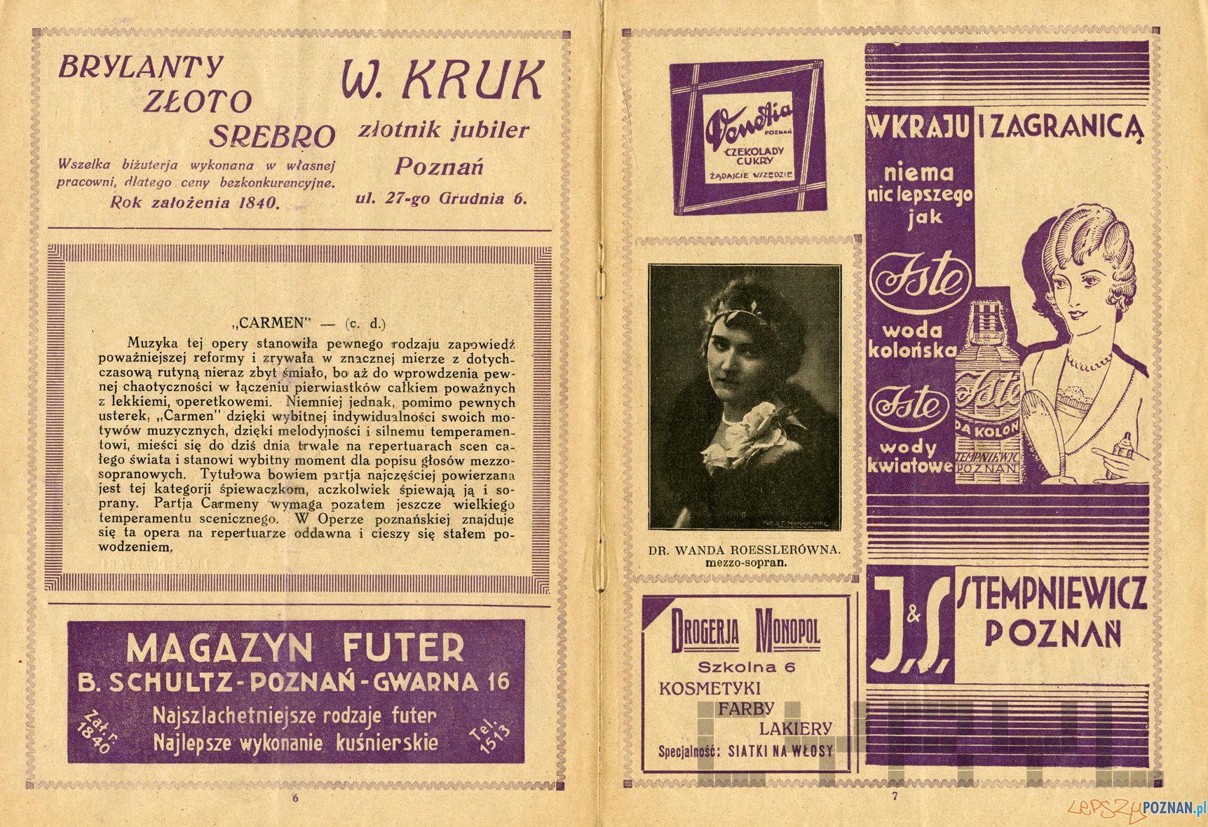 Program opery Carmen w Teatrze Wielkim sezon 1937-38 Teatr Wielki Cyryl (3)  Foto: Teatr Wielki / Cyryl