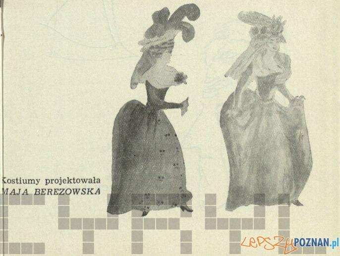 Kostiumy Maji Berezowskiej Program Zemsty w Teatrze Polskim 1963