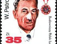 Wincenty Pstrowski na znaczku pocztowym