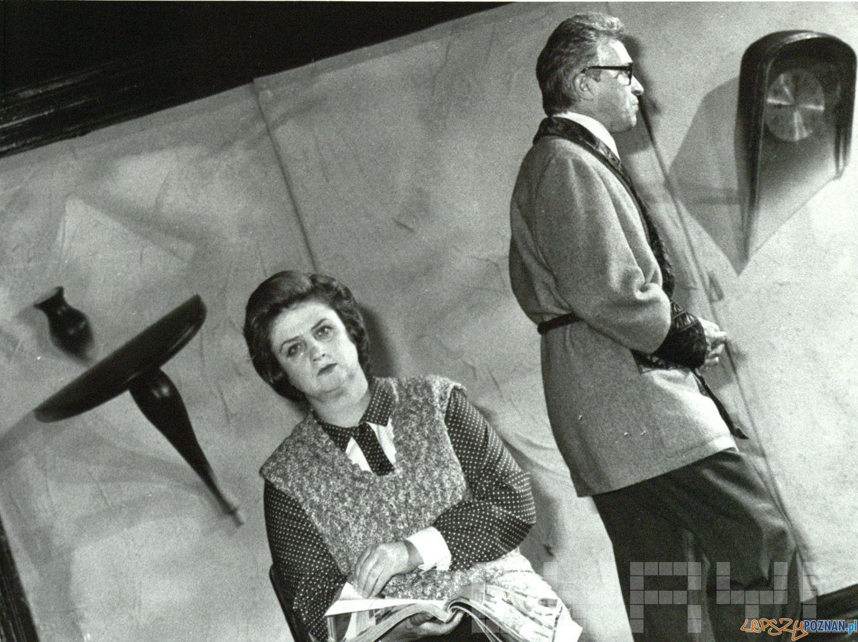 Stanisława Celińska i Michał Grudziński spektaklu Portret w Teatrze Nowym - 19.10.1990