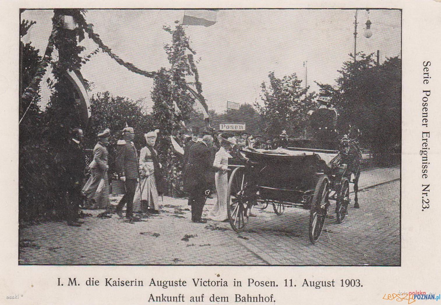 Wizyta cesarzowej 11.8.1903