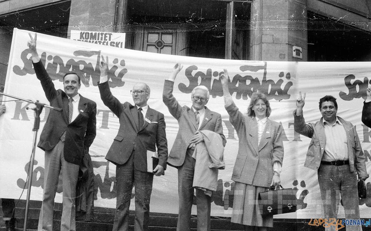 Wiec wyborczy Komitetu Obywatelskiego Solidarność - 10.05.1989