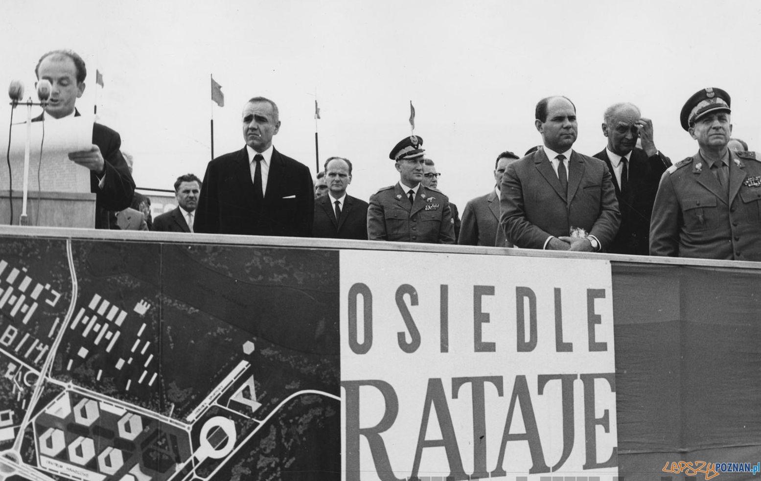 Wmurowanie aktu erekcyjnego pod budowe osiedli na Ratajach - 1967