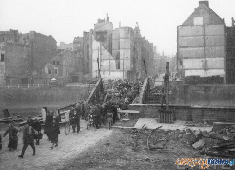 Zniszczony Most Chwaliszewski Zb Zielonacki 1945 Cyryl  Foto: