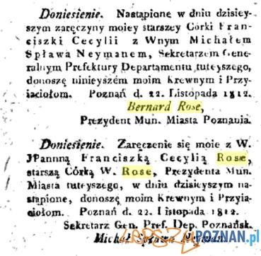 Bernard Rose zzareczyny corki 22.11.1812