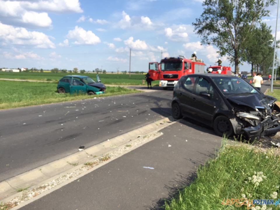 Ranni w wypadku w Tulcach  Foto: OSP Kleszczewo