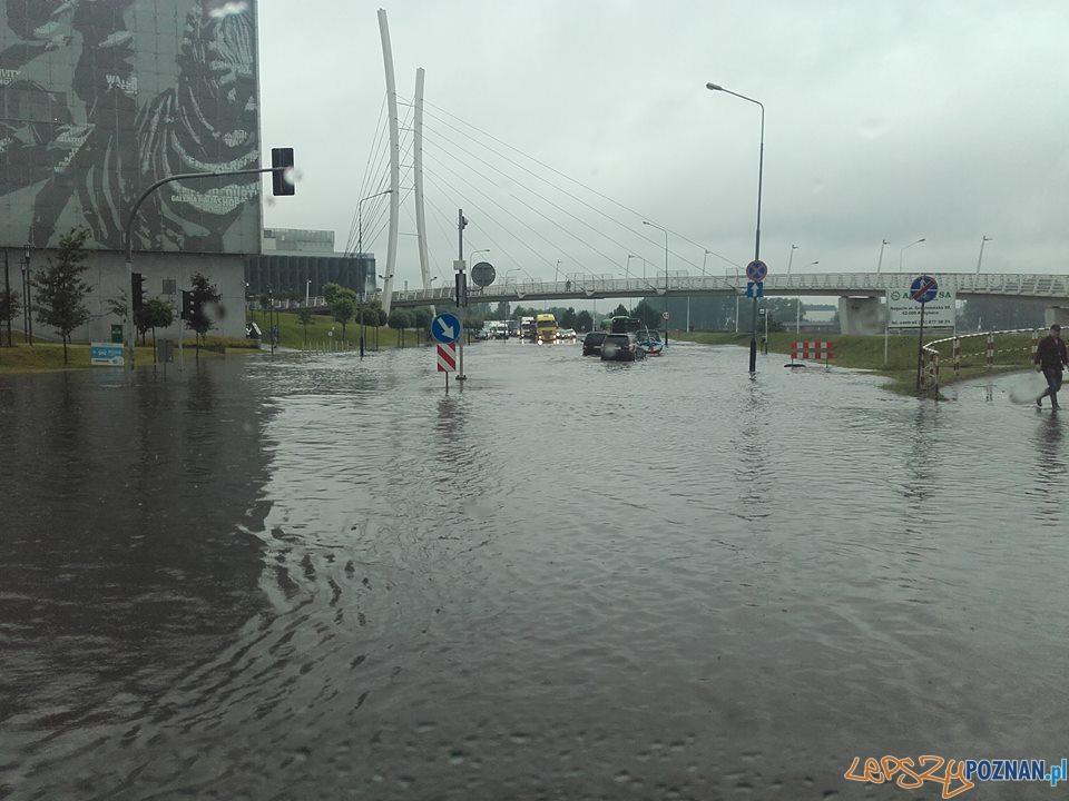 Lało ja z cebra - wuchta ulic zalana