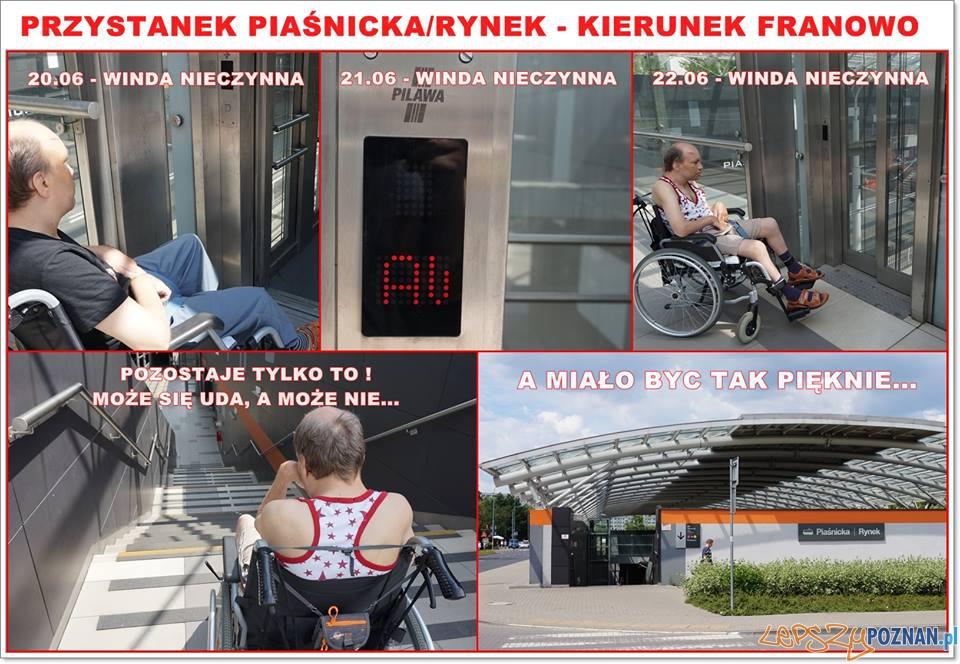 Dlaczego niedziała winda na Franowie  Foto: facebook