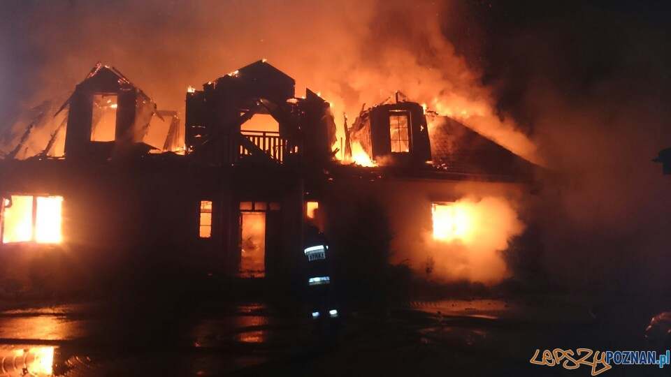 Pożar na Biskupińskiej  Foto: OSP Suchy Las