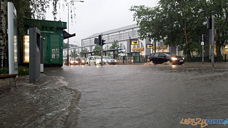 Lało ja z cebra – wuchta ulic zalana