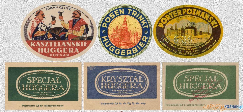 Etykiety piw Browaru Huggera