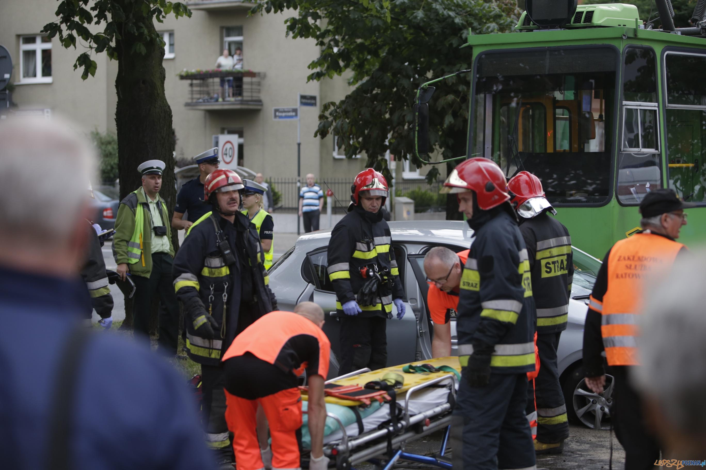 Wypadek Kasprzaka/Hetmańska  Foto: lepszyPOZNAN.pl / Piotr Rychter