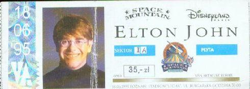 Elton John - bilet na koncert - Poznań 1995