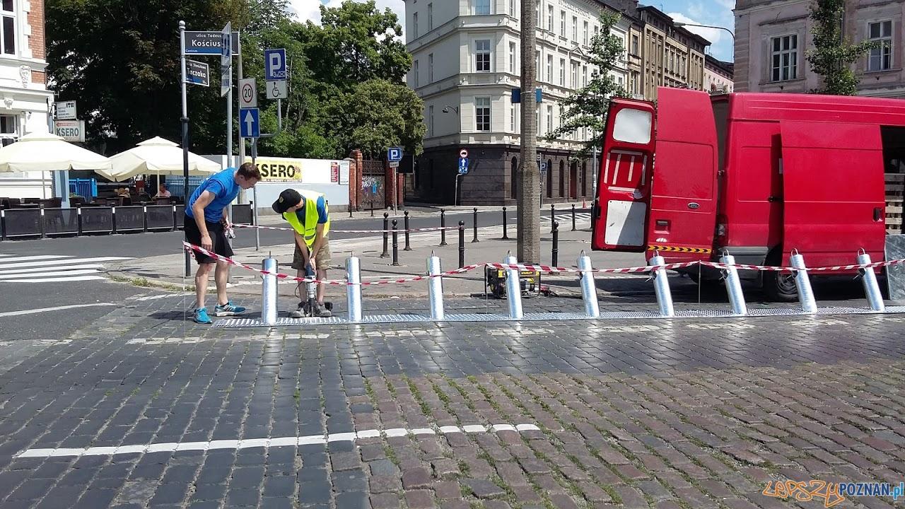 Montaż stacji rowerów miejskich, (2.07.2016)