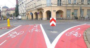 Sciezka rowerowa na Fredry - Strefa Tempo 30
