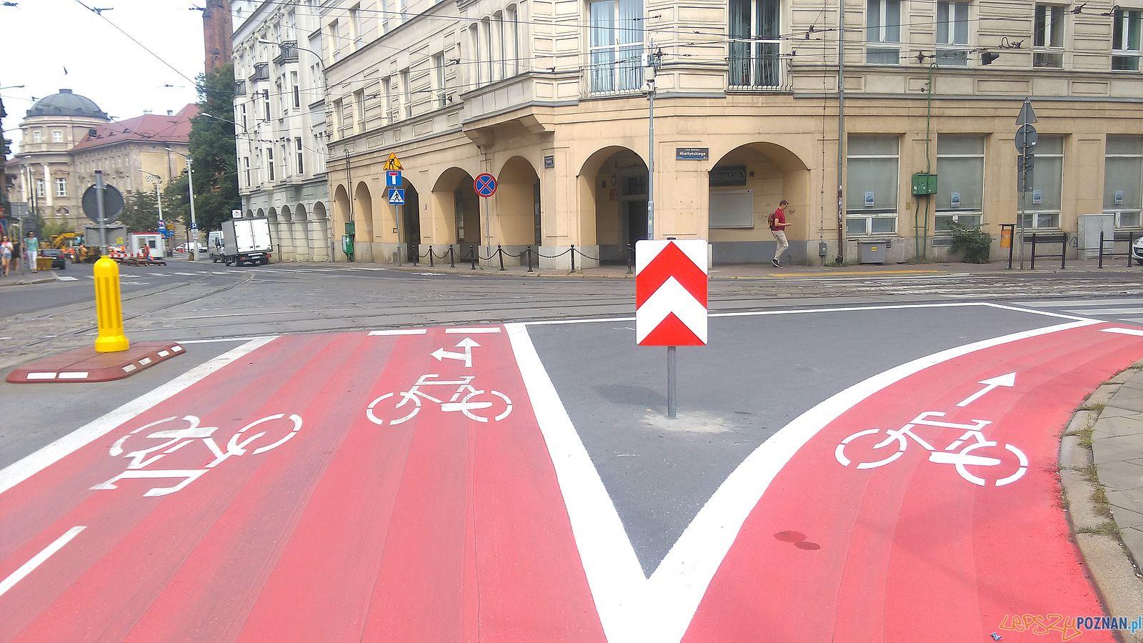 Sciezka rowerowa na Fredry - Strefa Tempo 30  Foto: lepszyPOZNAN / TD