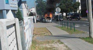 Pożar samochodu na Promienistej