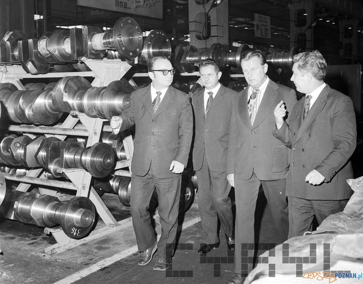 Wizyta I sekretarza KW PZPR Jerzego Zasady w zakładach Cegielskiego 15.10.1974