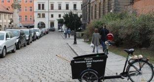 Rowerowy patrol czystości na Starym Mieście