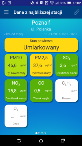 Stan powietrza w Poznaniu