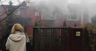 Pożar domu w Rogalinku