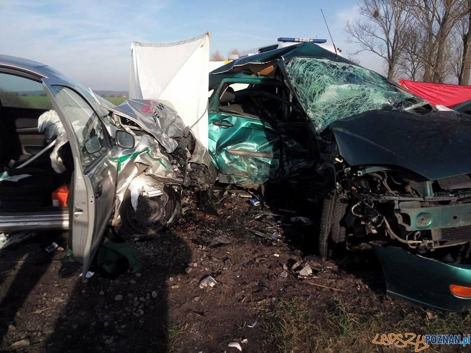 Śmiertelny wypadek w Promnie  Foto: OSP Kostrzyn