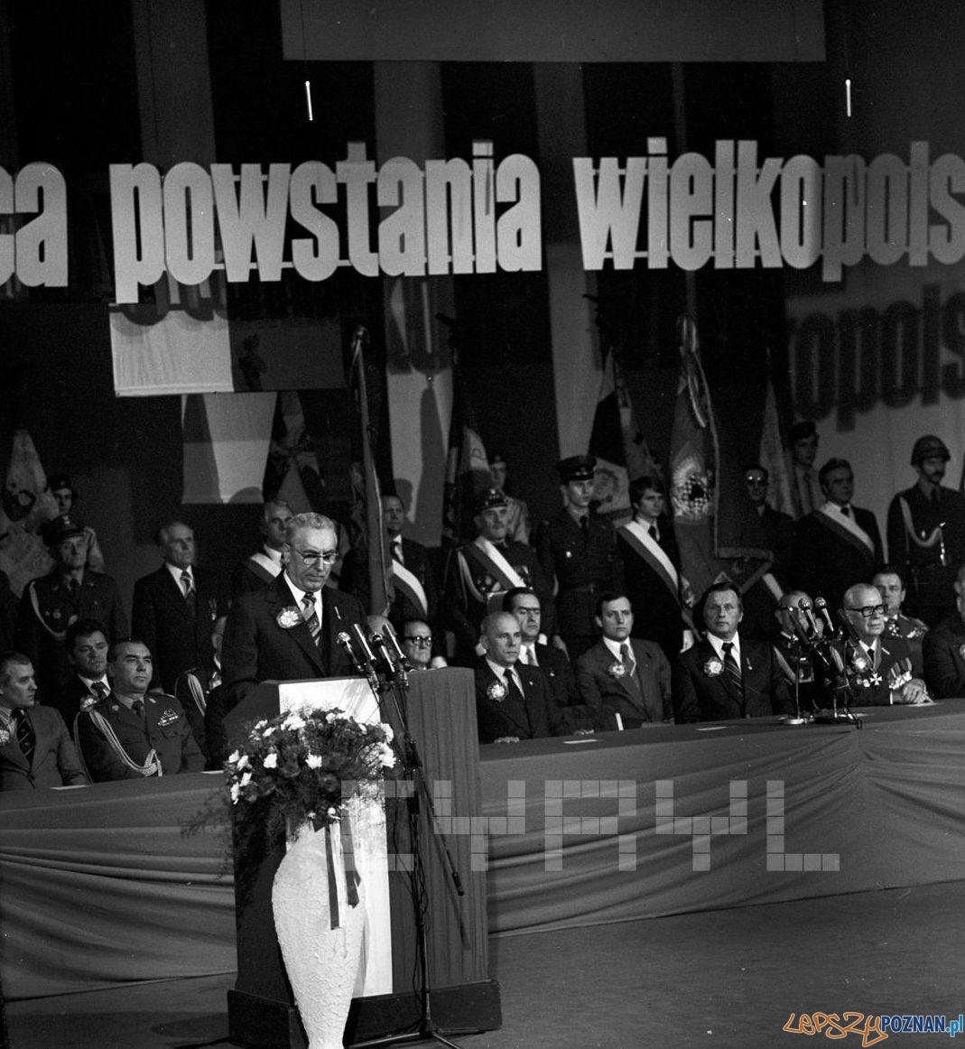 Uroczystości 60 rocznicy Powstania Wielkopolskiego w Teatrze Wielkim – przemówienie E. Gierka – 18.12.1978  Foto: Stanisław Wiktor / Cyryl