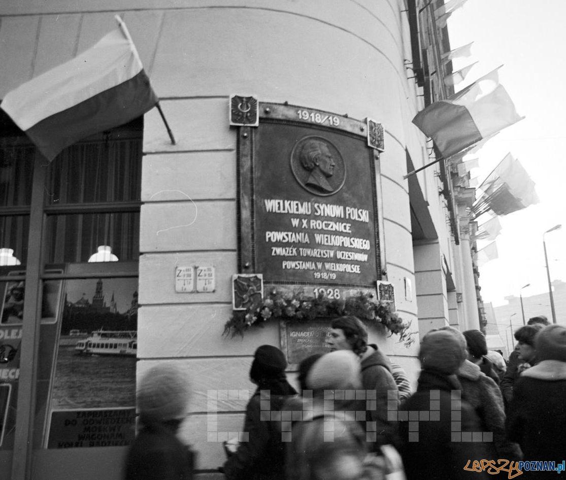 Odsłonięcie tablicy pamiątkowej I.J Paderewskiego 18.12.1978