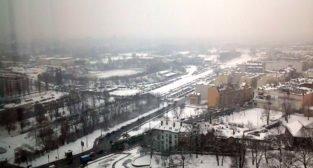 Stadion Szyca - zima 2013
