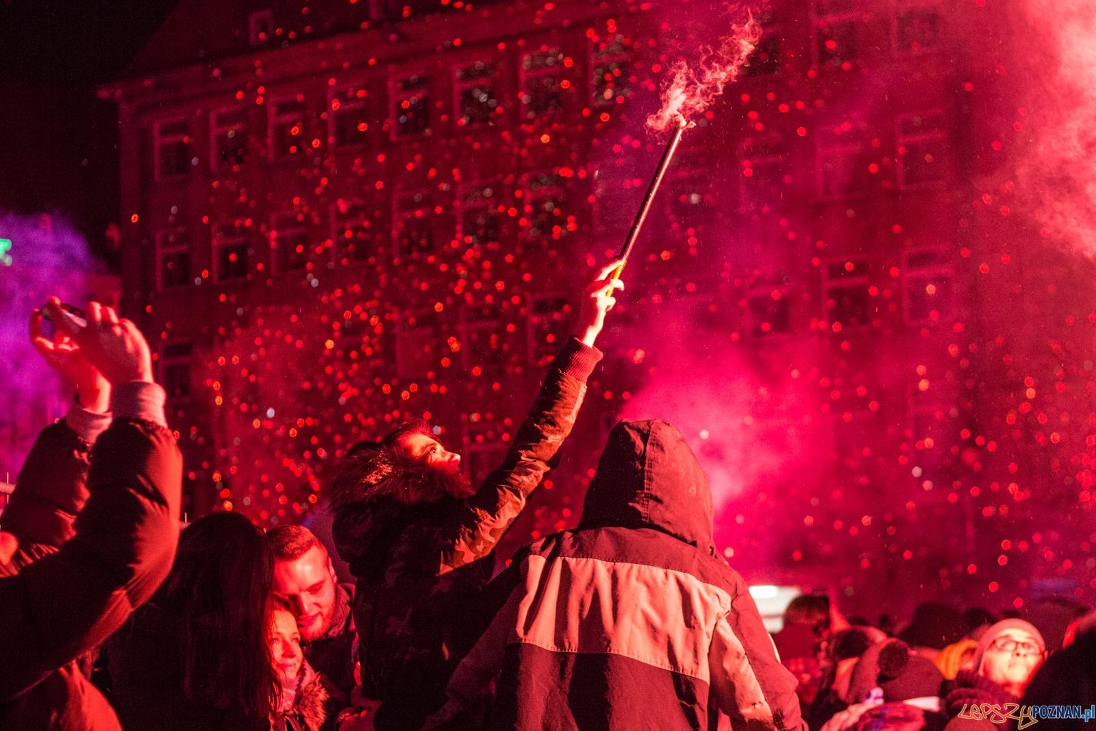 Sylwester Retro-Futuro na placu Wolności  Foto: lepszyPOZNAN.pl / Ewelina Jaśkowiak