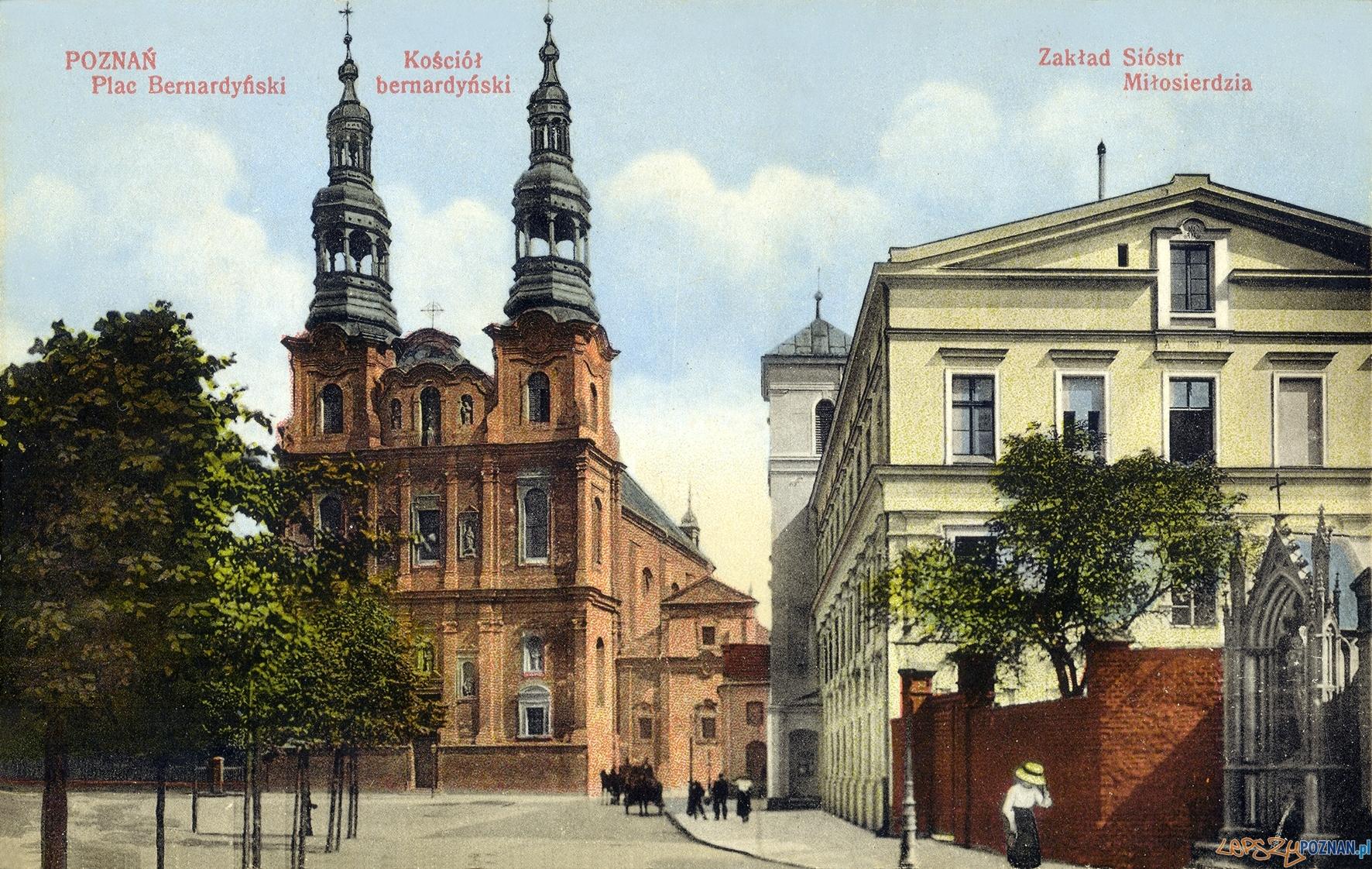 Plac Bernardyński - ulica Długa, poczatek XX wieku