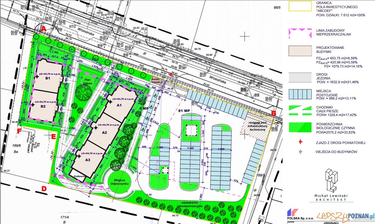 Budynki komunalne w Swarzędzu - plan