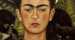 Frida Kahlo - autoportret z naszyjnikiem z cierni