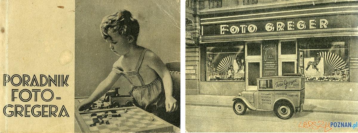 Pierwsza i ostatnia strona katalogu Foto Greger - 1938 r.