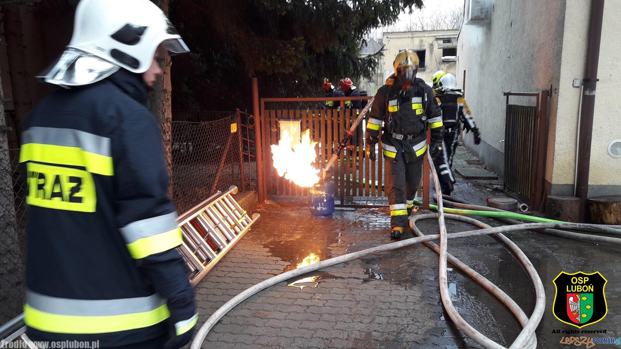 Pożar restauracji Jabłonka  Foto: OSP Luboń