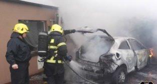 Samochód w ogniu